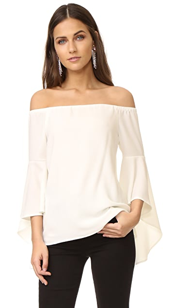 WAYF Sundown Off Shoulder Bell Sleeve Top