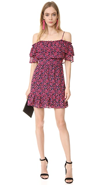 WAYF Daria Ruffle Off Shoulder Dress