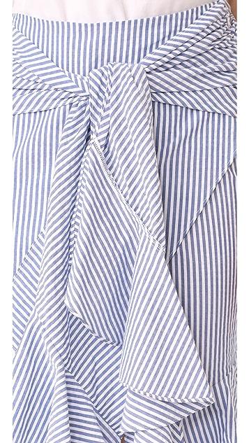 WAYF Quinn Ruffle Skirt