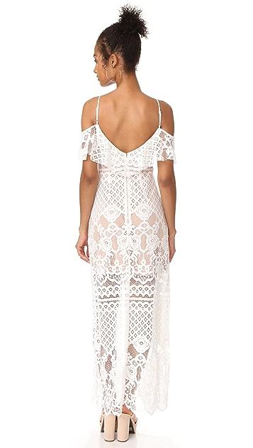 WAYF Luxia Off Shoulder Maxi Dress