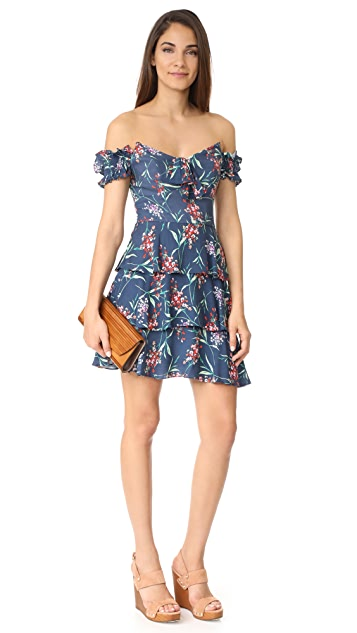 WAYF Rayan Tiered Off Shoulder Dress