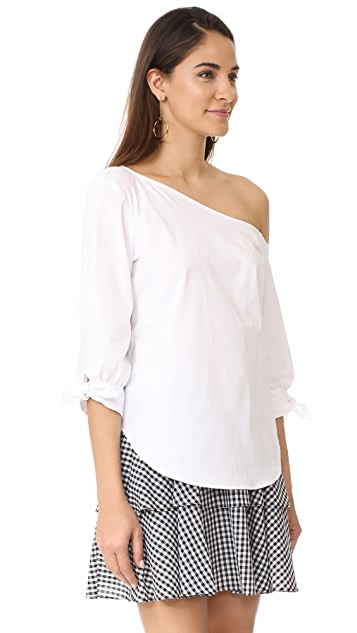 WAYF Adams One Shoulder Blouse