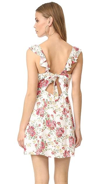 WAYF Iris Tie Back A-Line Dress