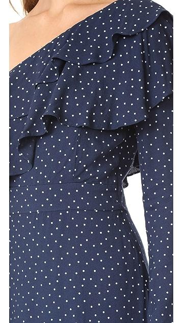 WAYF Многоуровневое платье Laci на одно плечо с оборками
