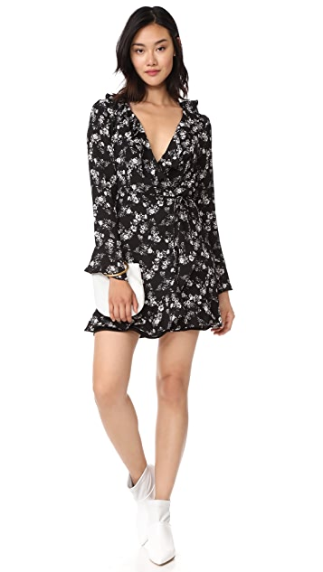 WAYF Maddie Wrap Mini Dress