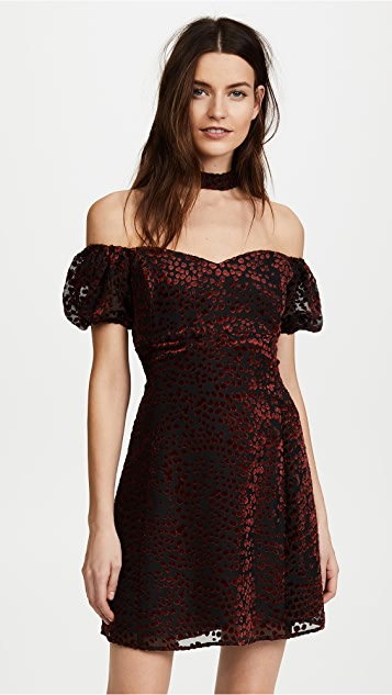 WAYF Judi Mock Neck Mini Dress