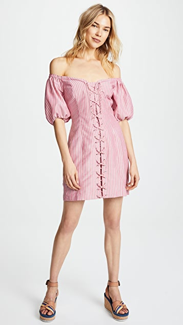 WAYF Frankie Lace Up Corset Dress