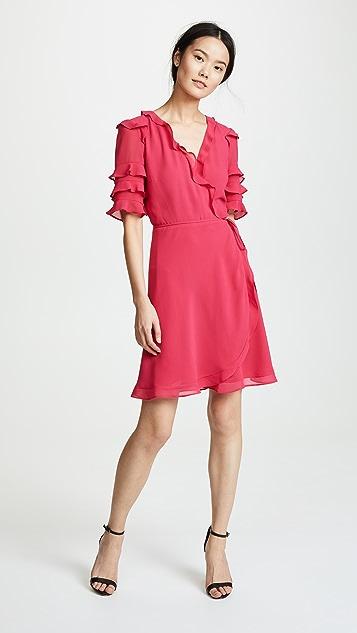 WAYF Kiefer Ruffle Mini Dress