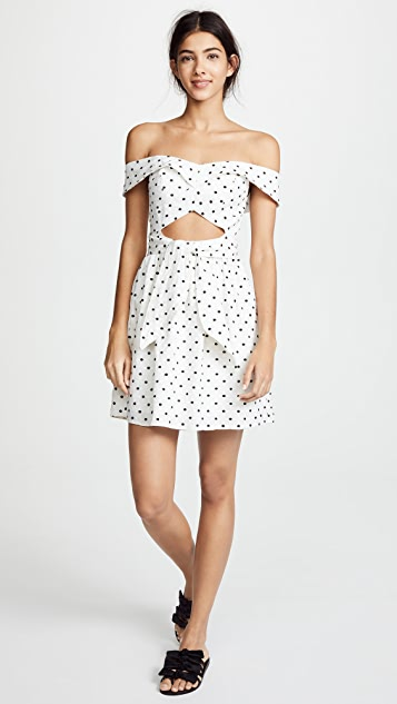 WAYF Capri Knotted Cutout Mini Dress
