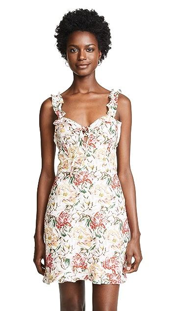 WAYF Cybill Lace Up Mini Dress