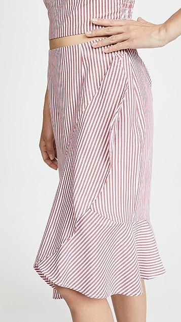 WAYF Naples Ruffle Skirt
