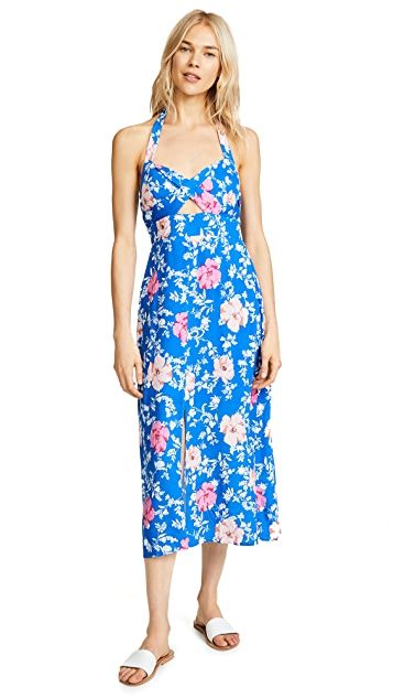 WAYF Ucca Halter Midi Dress