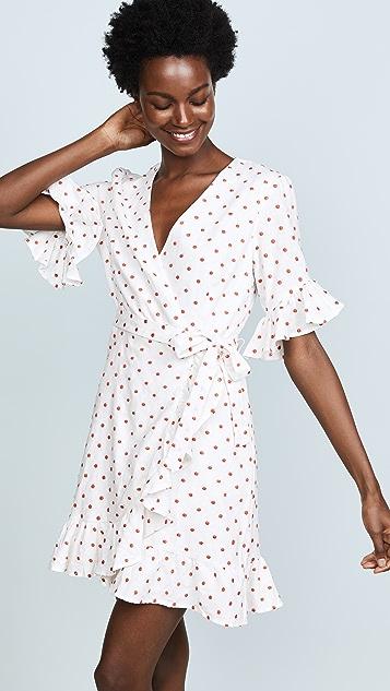 WAYF Faenza Flutter Wrap Dress