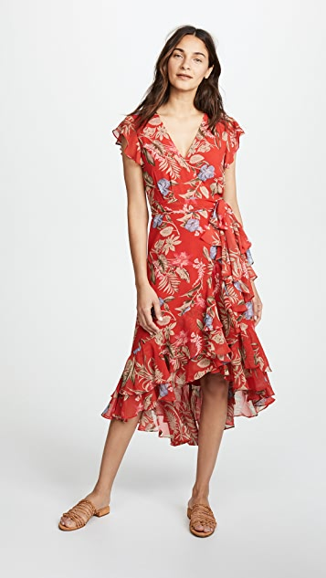 WAYF Clara Wrap Dress