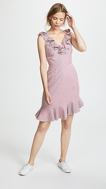 WAYF Dorian Mini Ruffle Dress