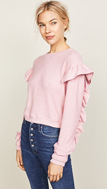 WAYF Darlene Ruffle Sweater
