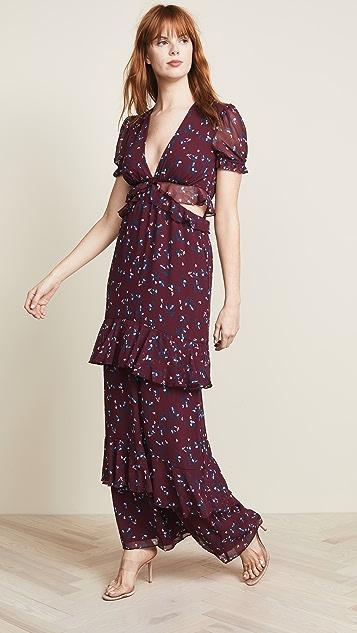 WAYF Lavina Cutout Maxi Dress