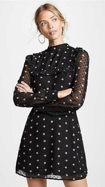 Manor Ruffle Bib Mini Dress by Wayf