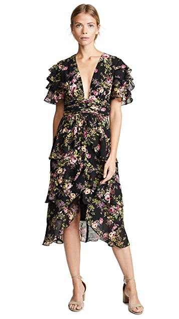 WAYF Miranda Tiered Ruffle Dress