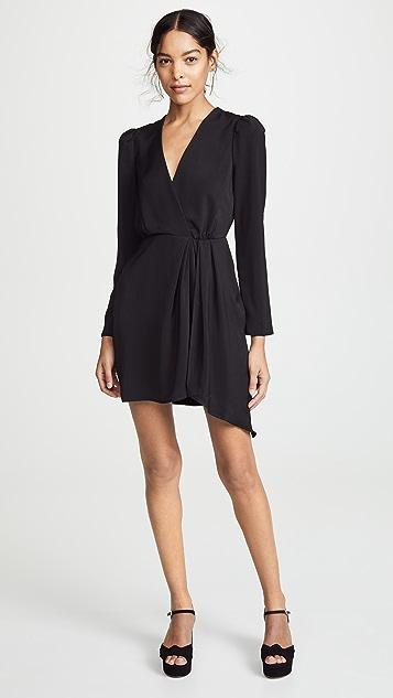 WAYF Banks Plunging Mini Dress