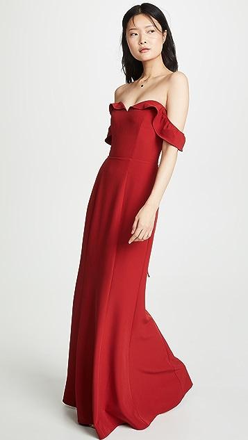 WAYF Вечернее платье Mia Trumpet