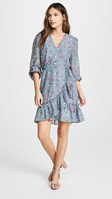 WAYF Eloise Wrap Mini Dress