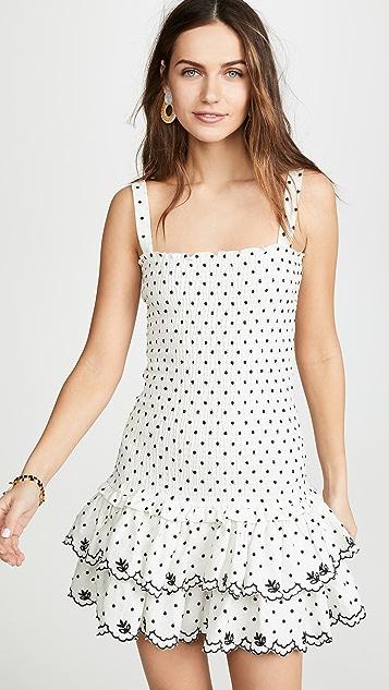 WAYF Herbie Smocked Mini Dress