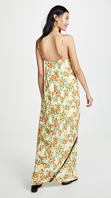 WAYF Baldwin Lace Trim Slip Dress
