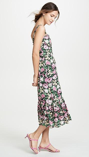WAYF Eloise Bustier Midi Dress