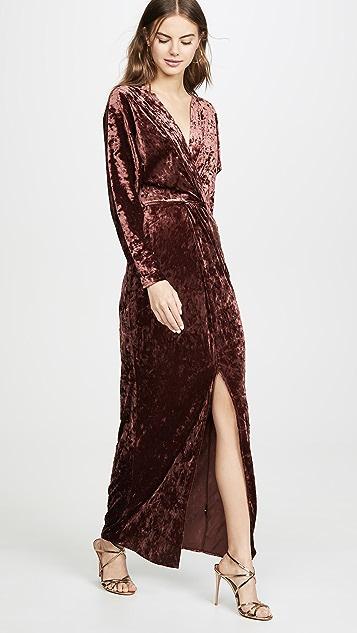 WAYF Roslyn Twist Front Midi Dress