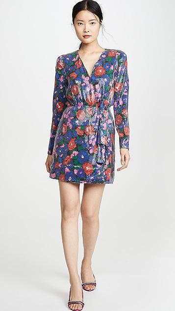 WAYF Mylene Mini Wrap Dress