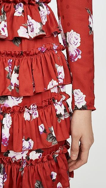 WAYF Darlene 长袖褶皱连衣裙