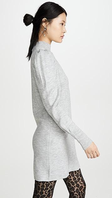 WAYF Lola Puff Sleeve Sweater Dress