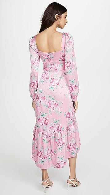 WAYF Flirt 系腰带束身中长连衣裙