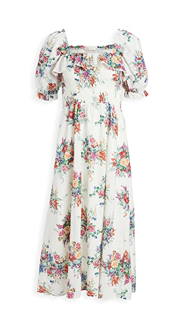 WAYF Smocked Midi Dress