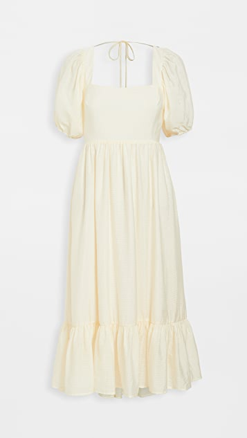 WAYF Lucca Midi Gathered Dress