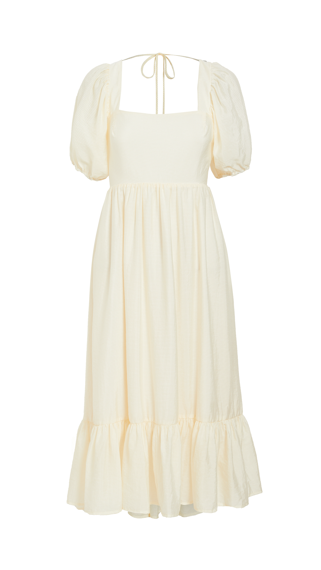 WAYF Lucca Midi Gathered Dress