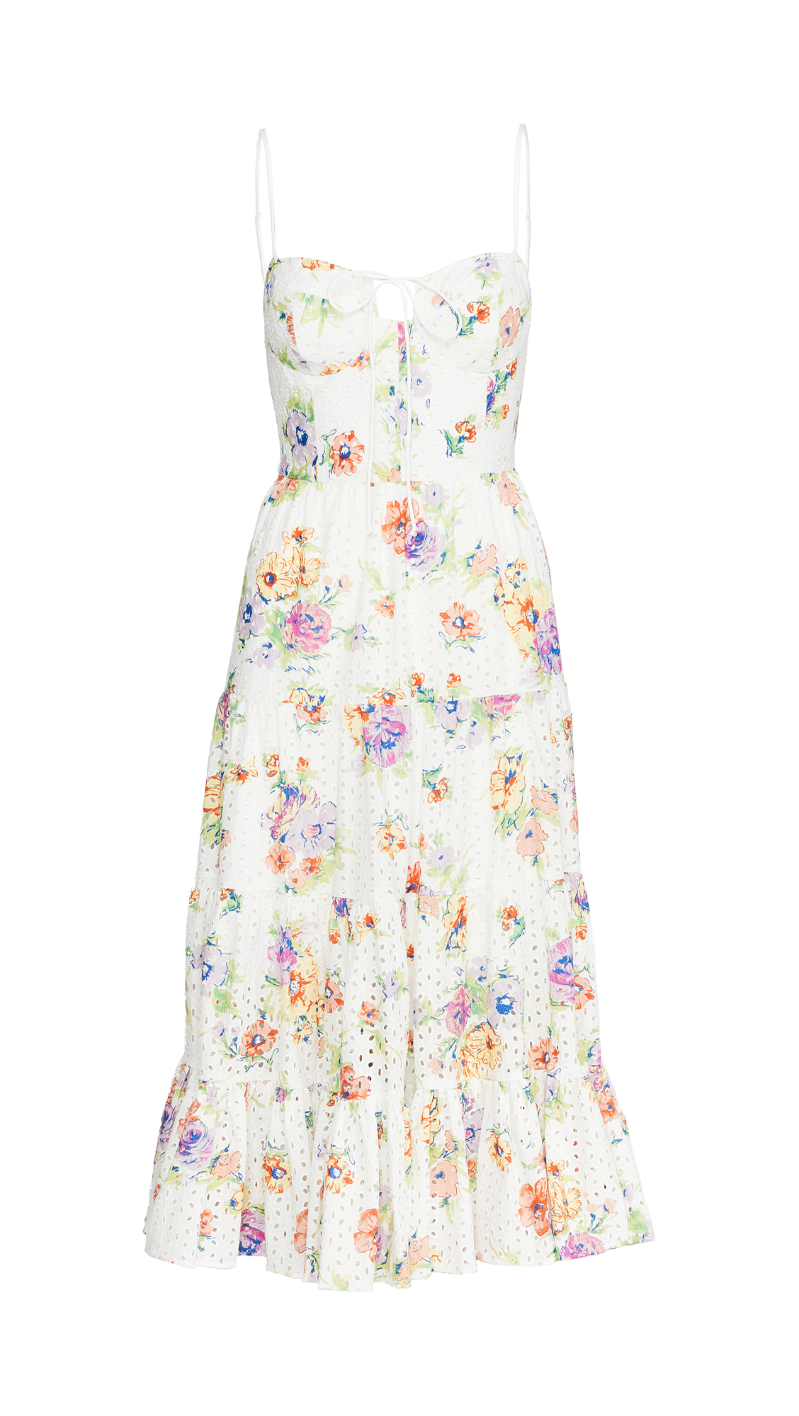 WAYF Timber Tiered Buster Midi Dress