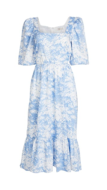 WAYF Mockingbird Cutout Midi Dress