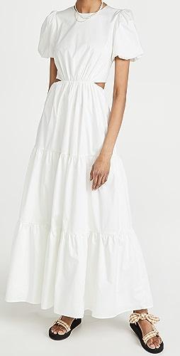 WAYF - Plaza Cut Out Tiered Maxi Dress
