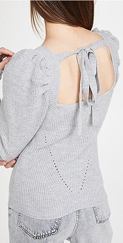 WAYF - Leland 背面绑带泡泡袖毛衣