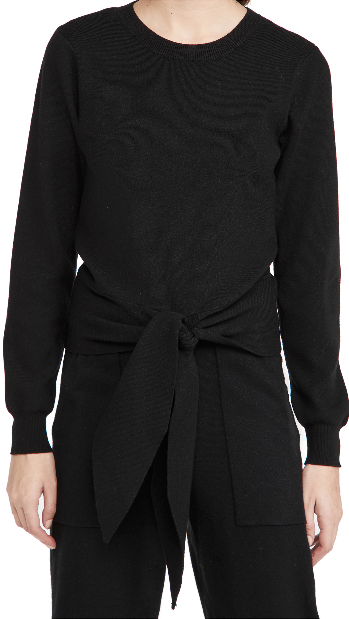 WAYF Milo Knot Front Sweater