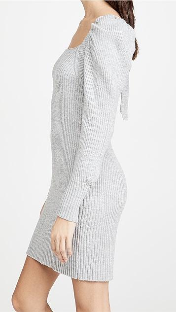 WAYF Square Neck Sweater Dress