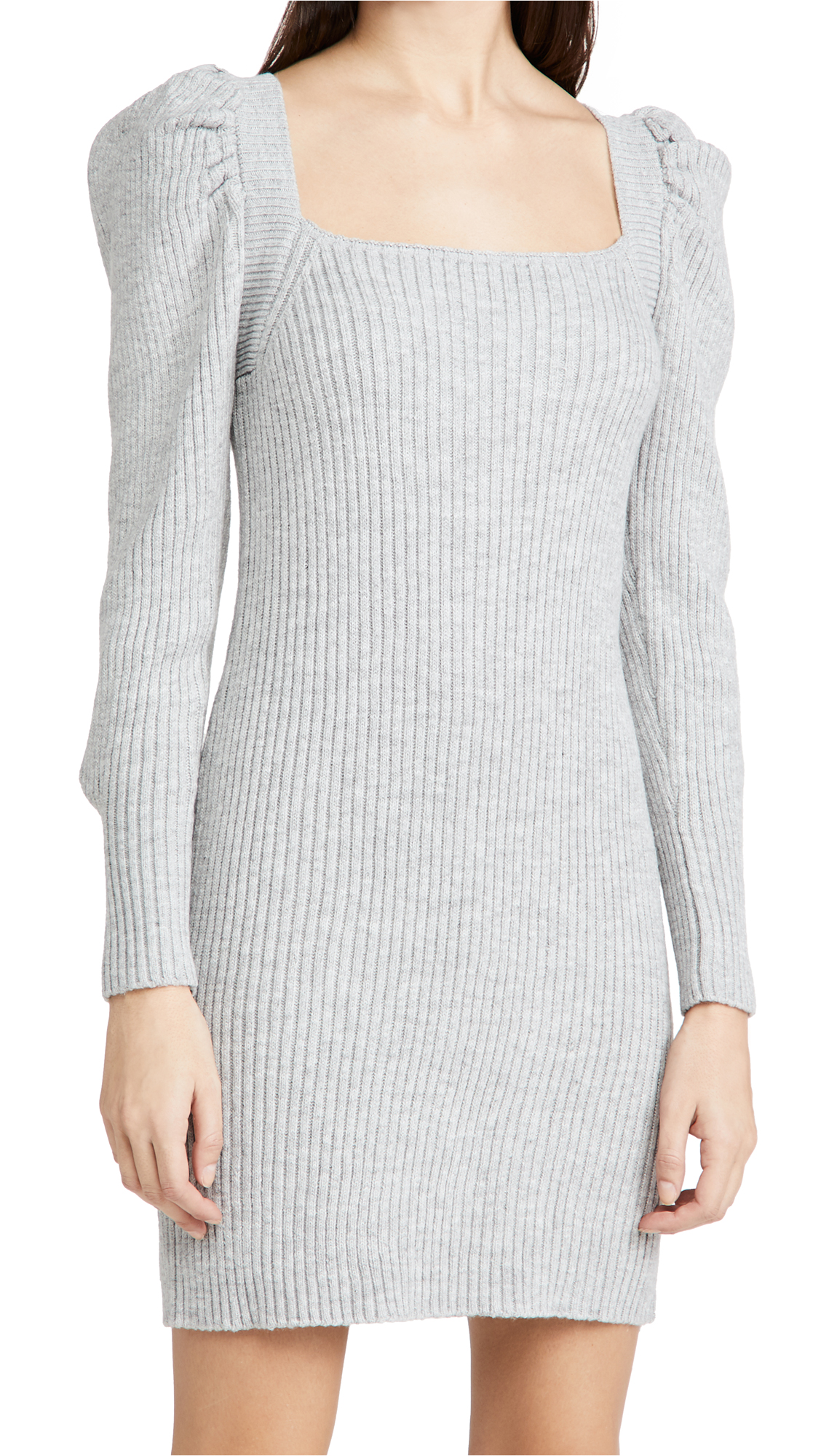 WAYF Square Neck Sweater Dress