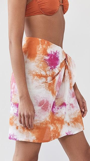 WAYF 发带套装纱巾半身裙