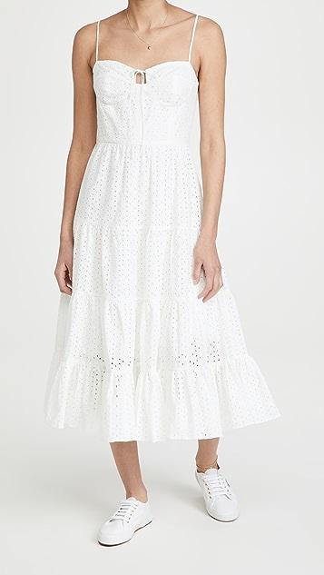 WAYF Timber Bustier Midi Dress