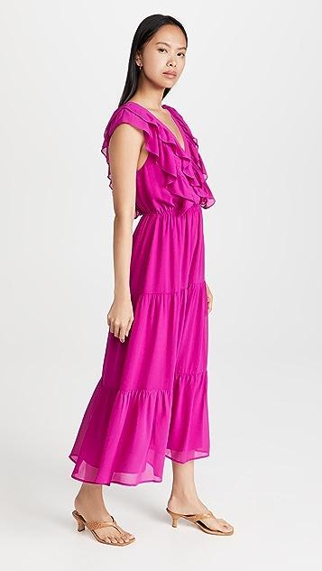 WAYF Double V Midi Dress