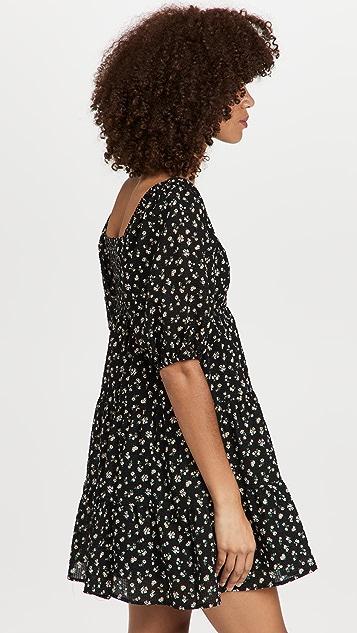 WAYF Windham Square Neck Dress