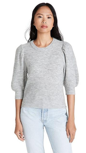 WAYF Puff Sleeve Sweater
