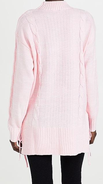 WAYF Dani Side Lace Up Sweater